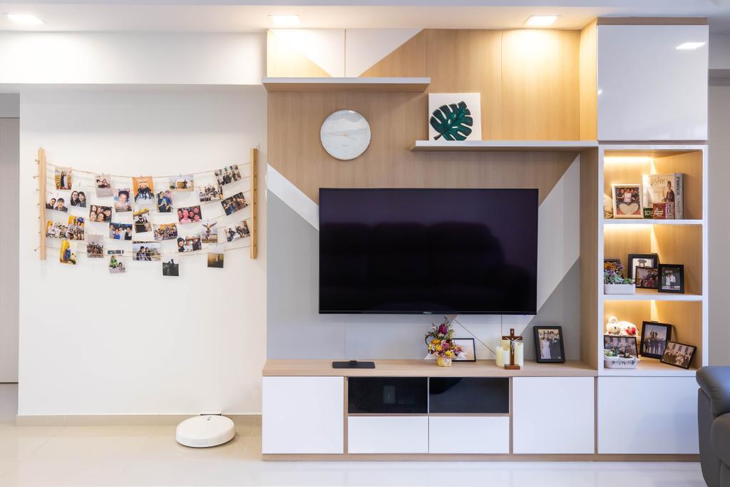 Modern, HDB, Living Room, Bishan Street 22, Interior Designer, VNA Design, Contemporary