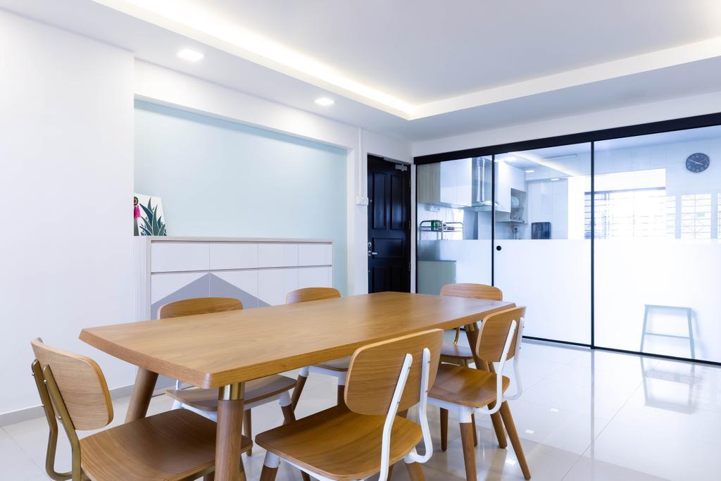 Modern, HDB, Dining Room, Bishan Street 22, Interior Designer, VNA Design, Contemporary