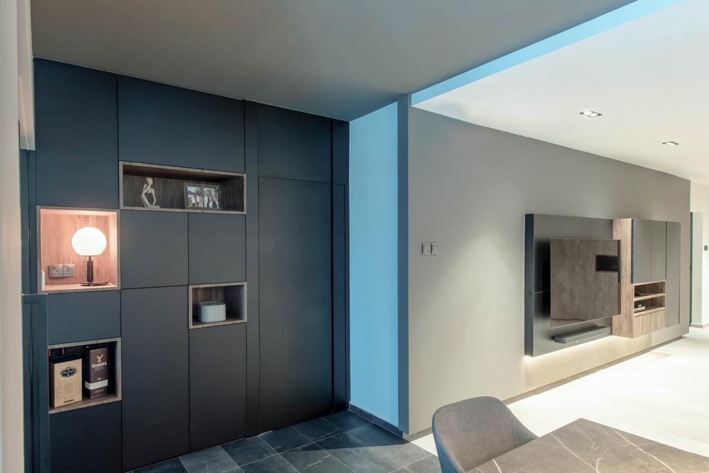 Modern, HDB, Living Room, Canberra Road, Interior Designer, Dyel Design, Contemporary