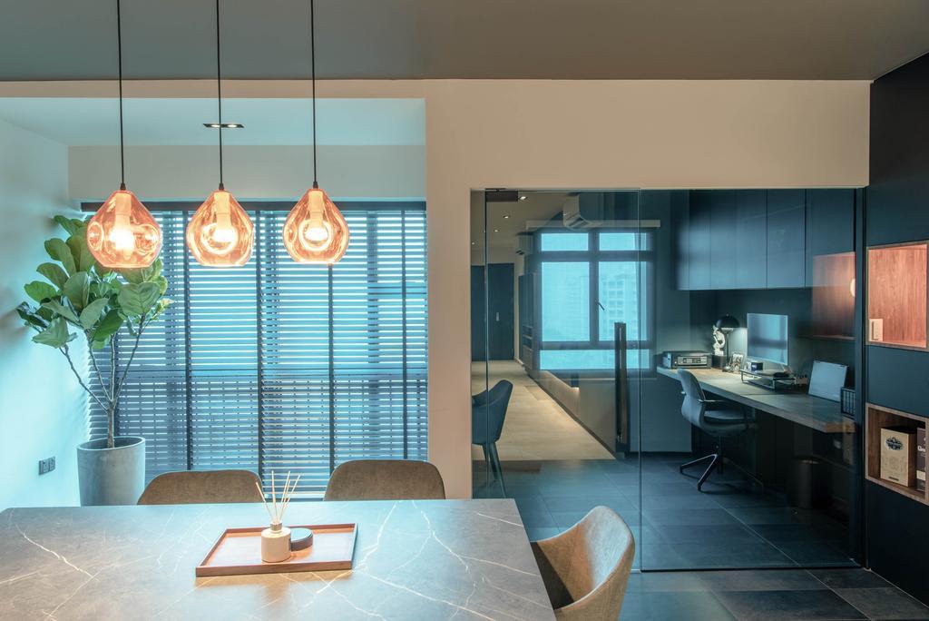 Modern, HDB, Study, Canberra Road, Interior Designer, Dyel Design, Contemporary