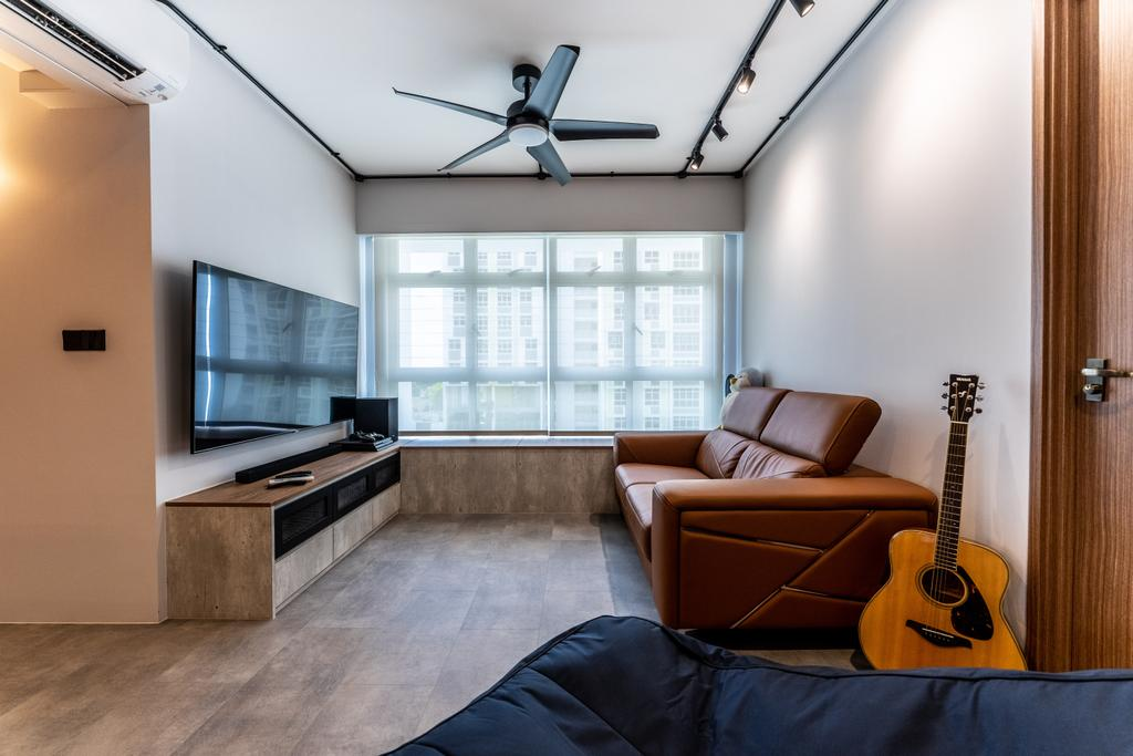 Contemporary, HDB, Living Room, Northshore Drive, Interior Designer, Luova Project Services
