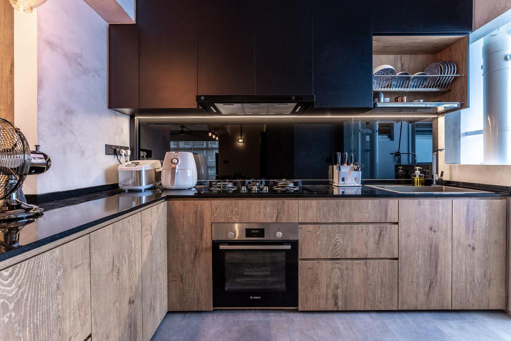 Contemporary, HDB, Kitchen, Northshore Drive, Interior Designer, Luova Project Services