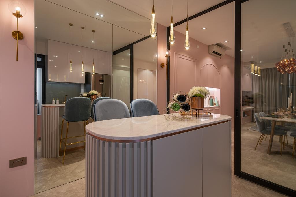 Scandinavian, Condo, Kitchen, Artra, Interior Designer, Mr Shopper Studio