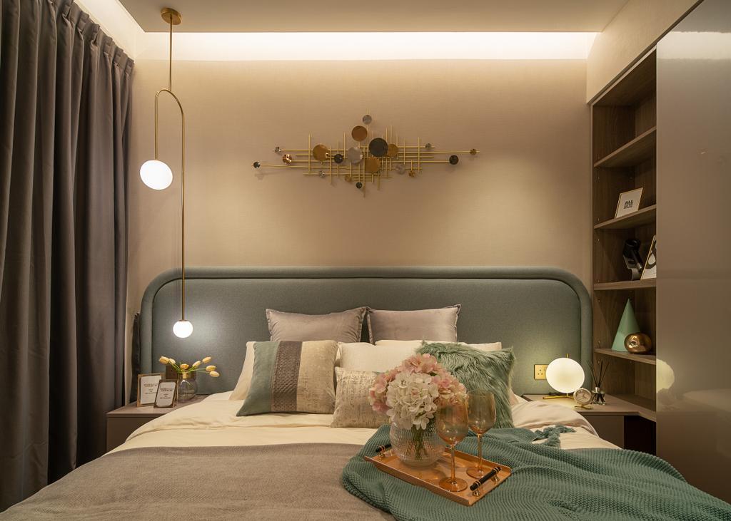 Scandinavian, Condo, Bedroom, Artra, Interior Designer, Mr Shopper Studio