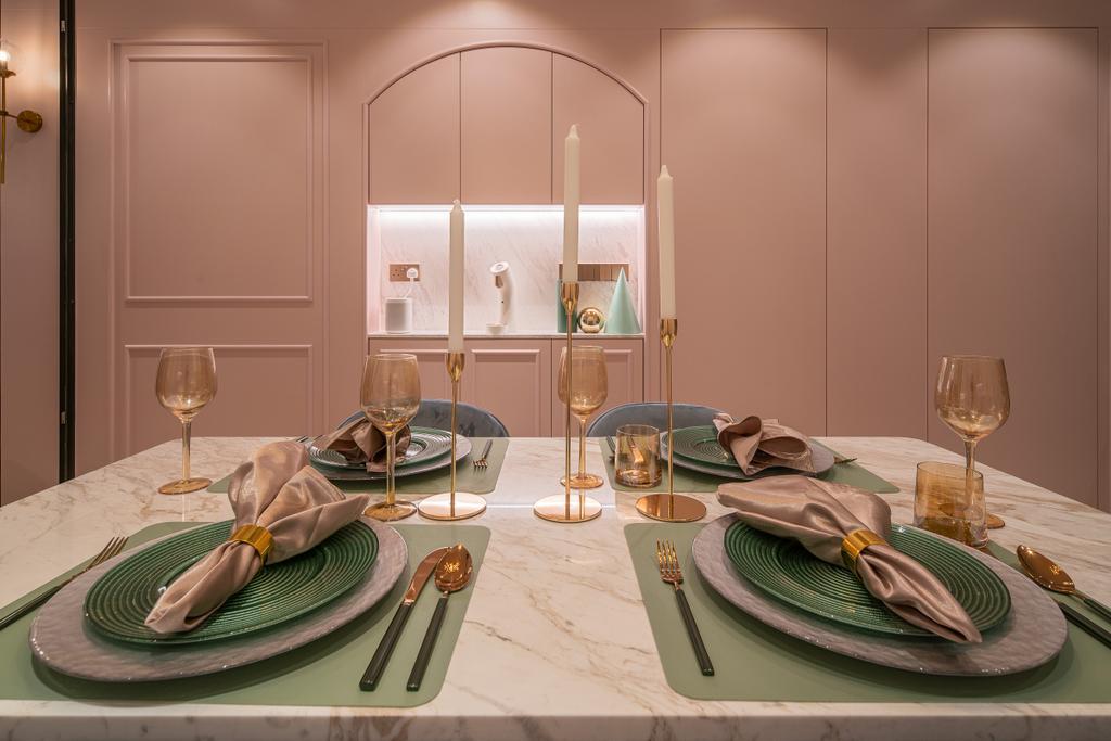 Scandinavian, Condo, Dining Room, Artra, Interior Designer, Mr Shopper Studio