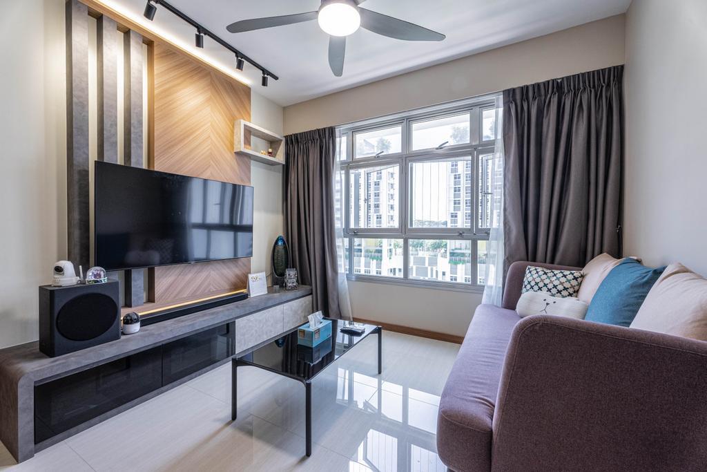 Modern, HDB, Living Room, Northshore Drive, Interior Designer, Todz'Terior