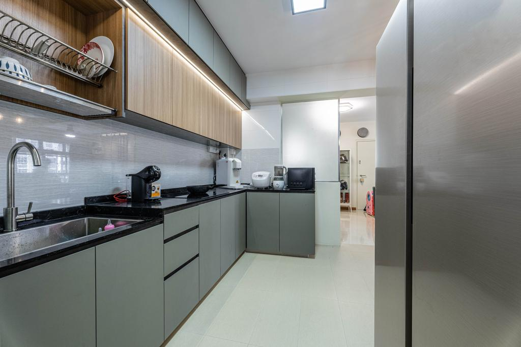 Modern, HDB, Kitchen, Northshore Drive, Interior Designer, Todz'Terior