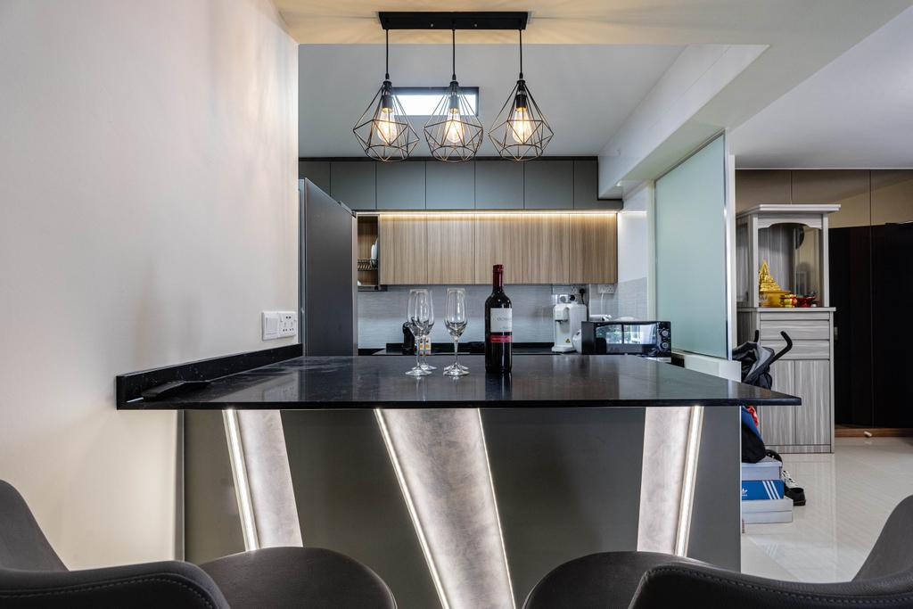 Modern, HDB, Dining Room, Northshore Drive, Interior Designer, Todz'Terior