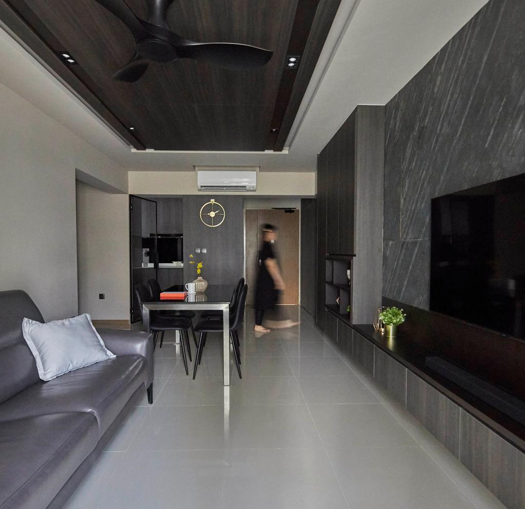 Contemporary, HDB, Living Room, Alkaff Courtview, Interior Designer, The Interior Lab