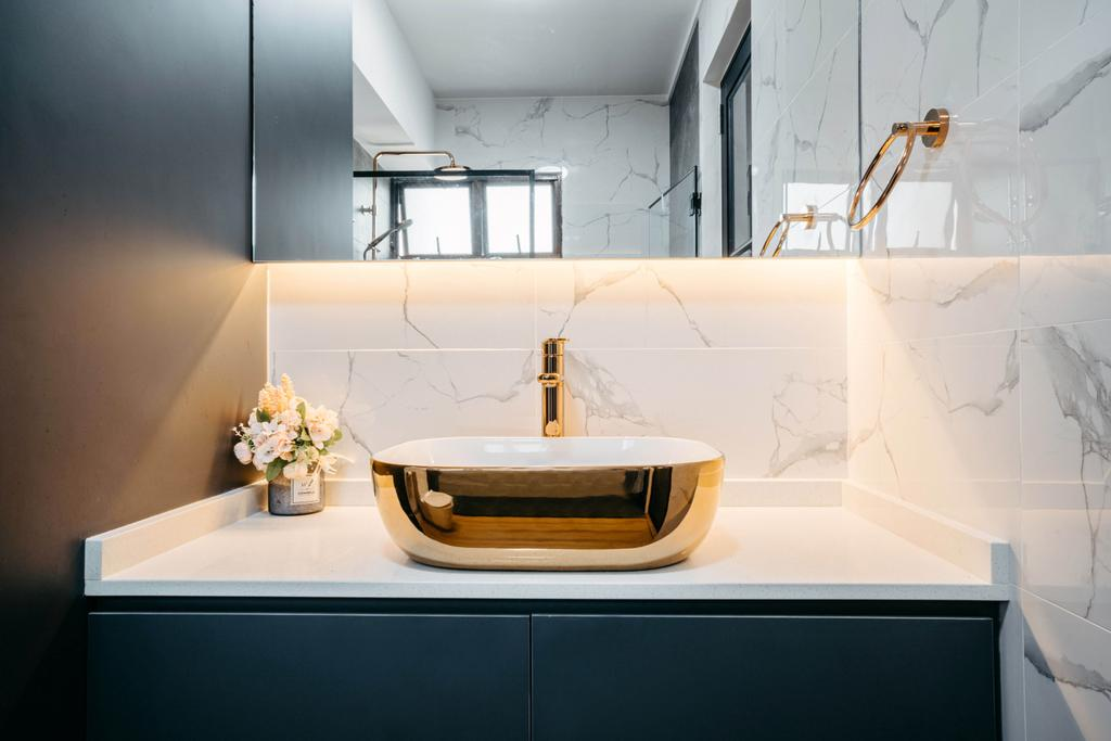 Modern, HDB, Bathroom, Admiralty Drive, Interior Designer, New Age Interior, Contemporary