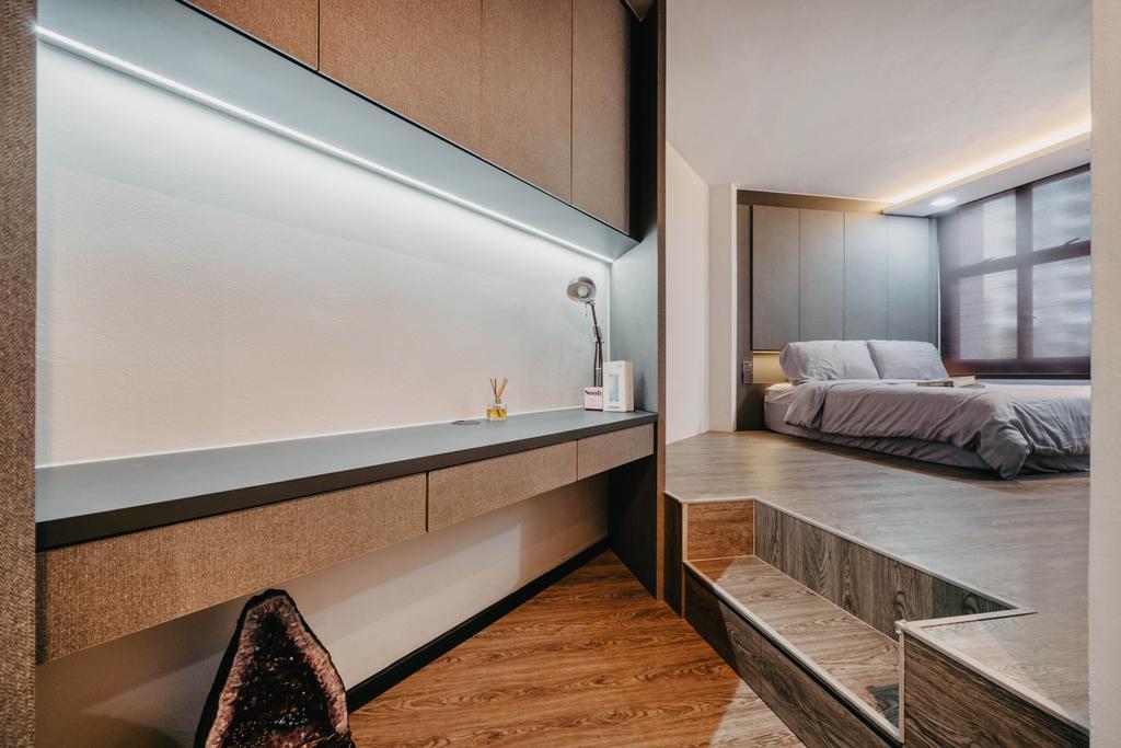 Modern, HDB, Bedroom, Admiralty Drive, Interior Designer, New Age Interior, Contemporary