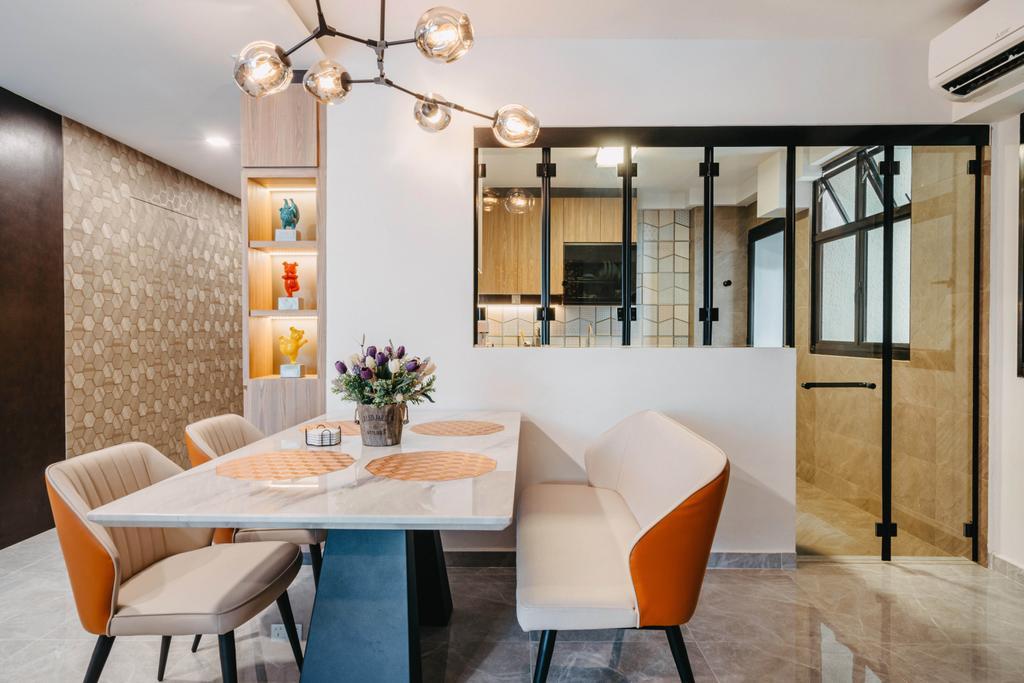 Modern, HDB, Dining Room, Admiralty Drive, Interior Designer, New Age Interior, Contemporary
