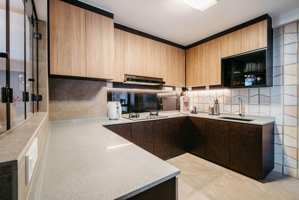 Modern, HDB, Kitchen, Admiralty Drive, Interior Designer, New Age Interior, Contemporary
