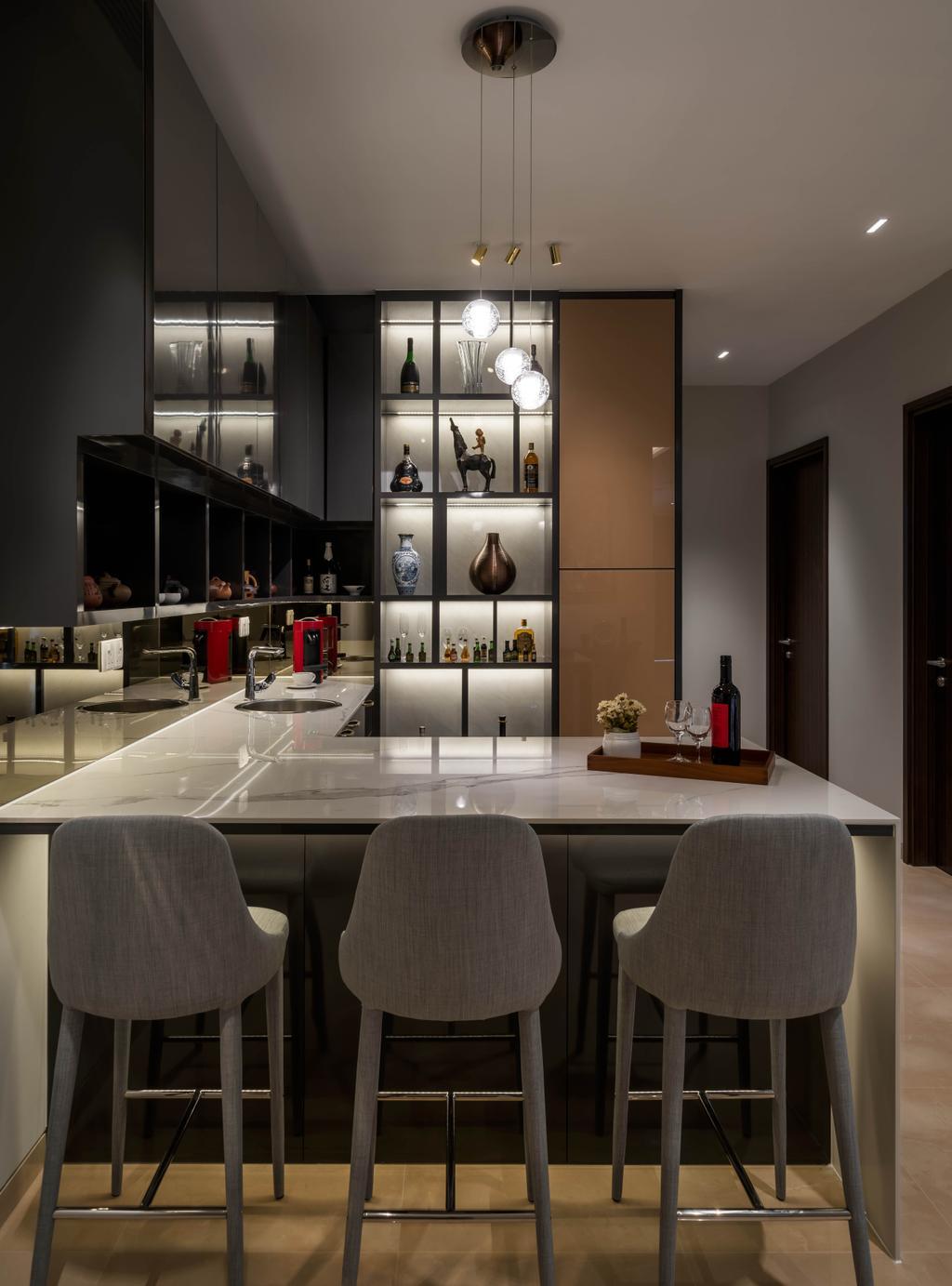 Contemporary, Landed, Dining Room, Chuan Garden, Interior Designer, Weiken.com