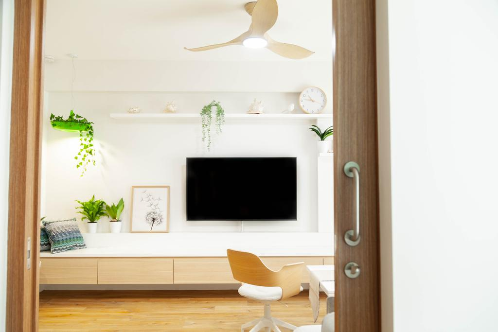 Scandinavian, HDB, Living Room, Northshore Drive, Interior Designer, Hashtag Interior
