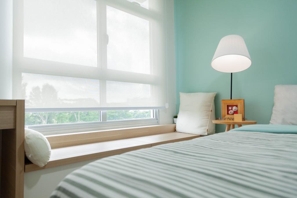 Scandinavian, HDB, Bedroom, Northshore Drive, Interior Designer, Hashtag Interior