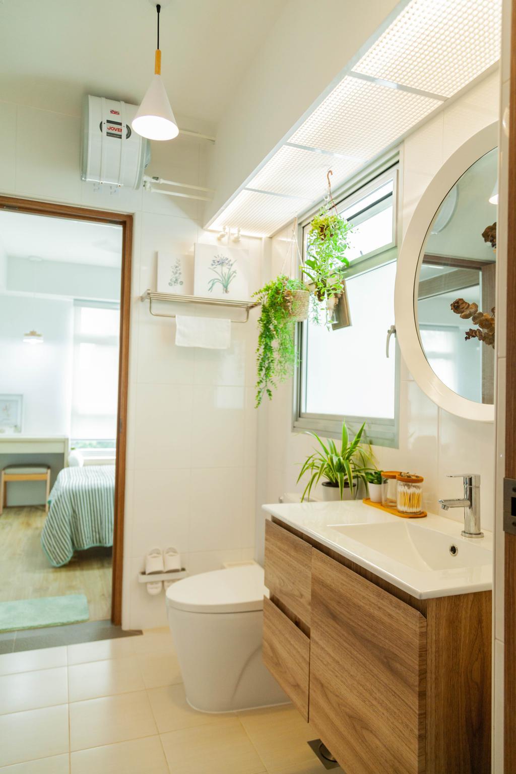 Scandinavian, HDB, Bathroom, Northshore Drive, Interior Designer, Hashtag Interior