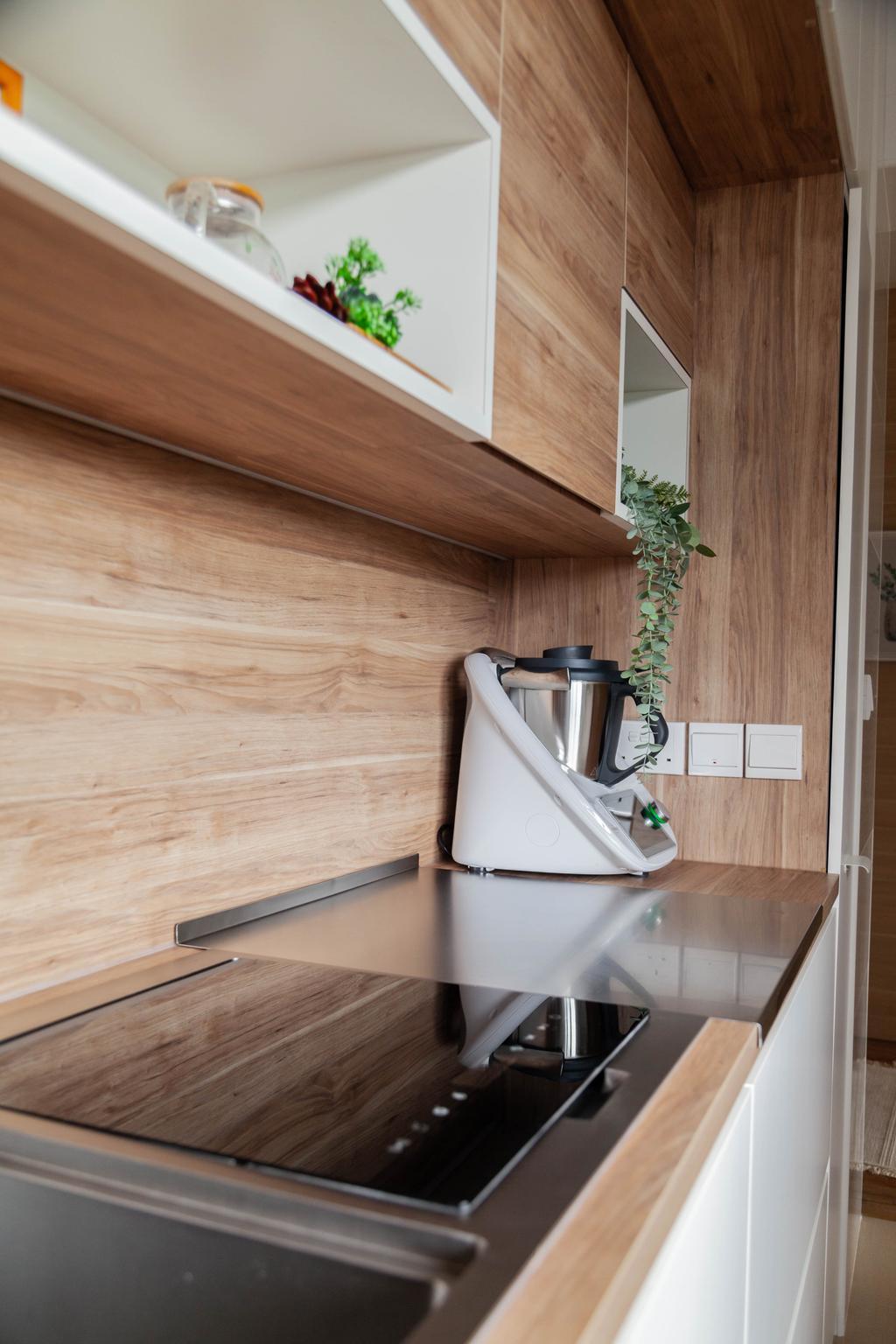 Scandinavian, HDB, Kitchen, Northshore Drive, Interior Designer, Hashtag Interior