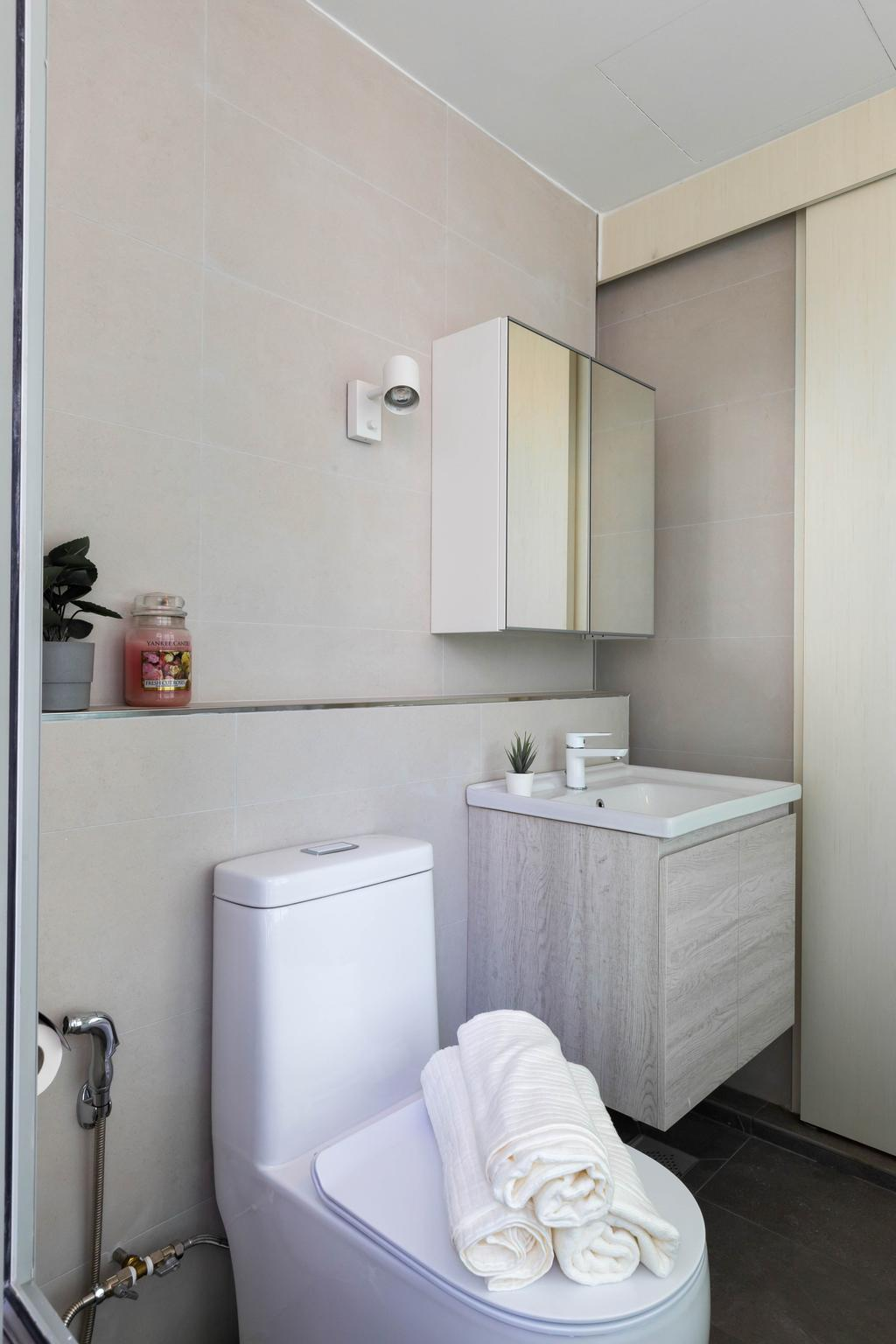Modern, Condo, Bathroom, Kovan Residences, Interior Designer, Yang's Inspiration Design