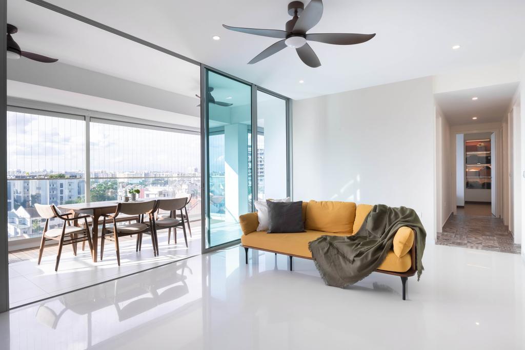 Modern, Condo, Living Room, Kovan Residences, Interior Designer, Yang's Inspiration Design