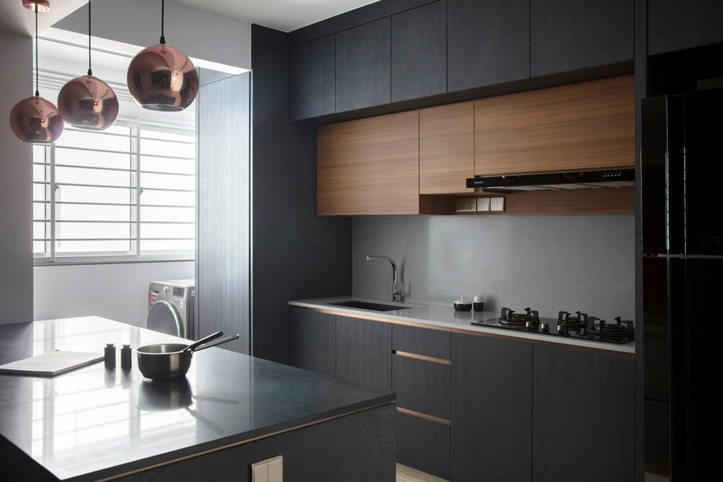 Contemporary, HDB, Kitchen, Bukit Batok West Avenue 8, Interior Designer, KDOT
