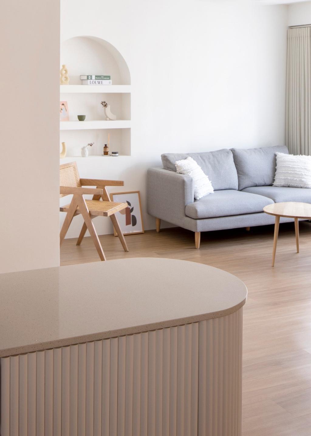 Scandinavian, HDB, Living Room, Buangkok Link, Interior Designer, Ascend Design