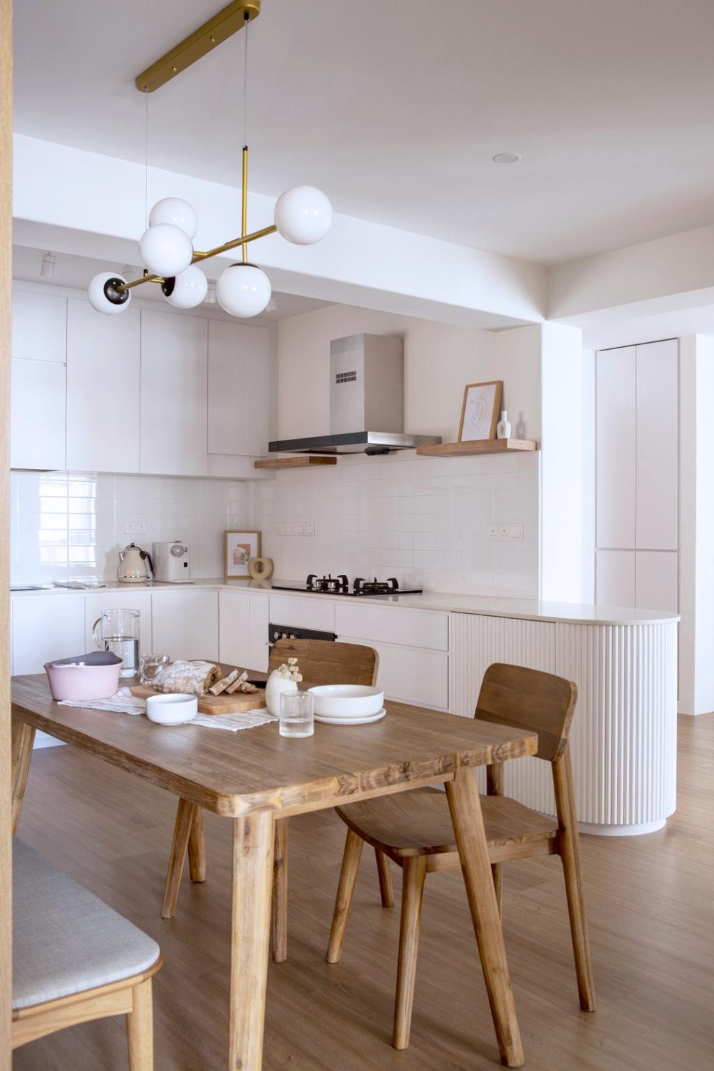 Scandinavian, HDB, Kitchen, Buangkok Link, Interior Designer, Ascend Design