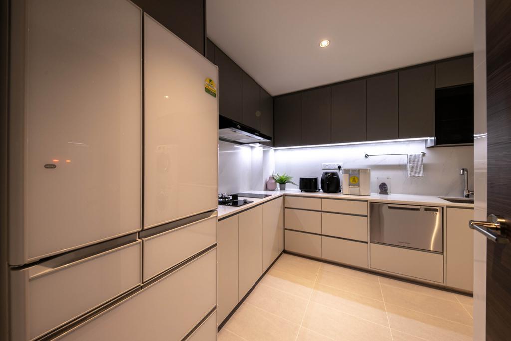 Modern, Condo, Kitchen, The Woodgrove, Interior Designer, Space Atelier, Contemporary