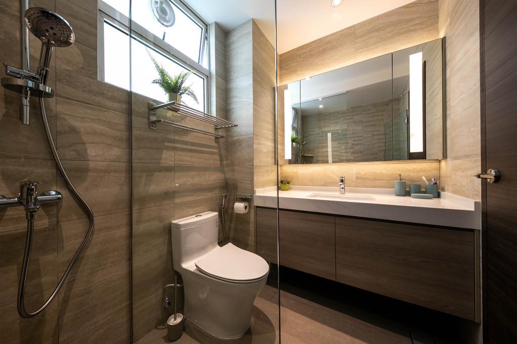 Modern, Condo, Bathroom, The Woodgrove, Interior Designer, Space Atelier, Contemporary