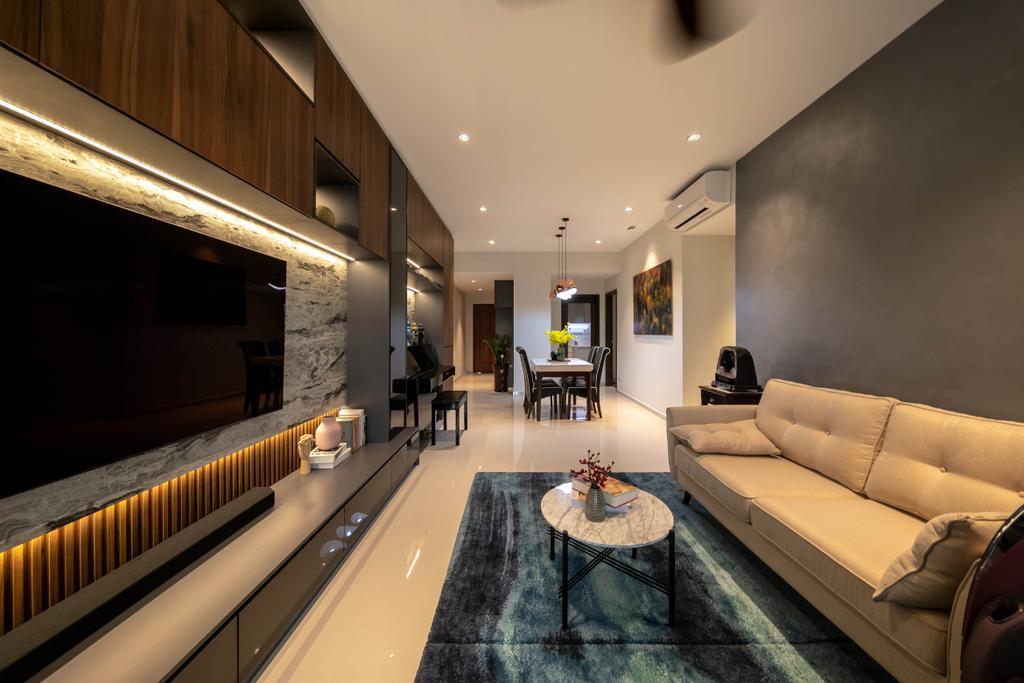 Modern, Condo, Living Room, The Woodgrove, Interior Designer, Space Atelier, Contemporary