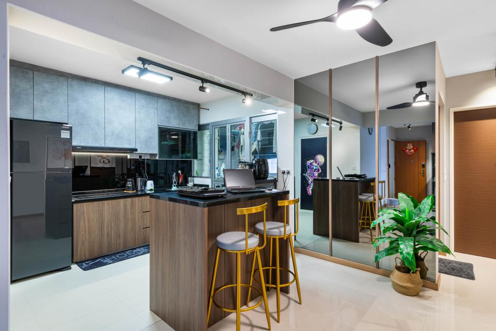 Contemporary, HDB, Kitchen, Buangkok Crescent, Interior Designer, Mr Designer Studio