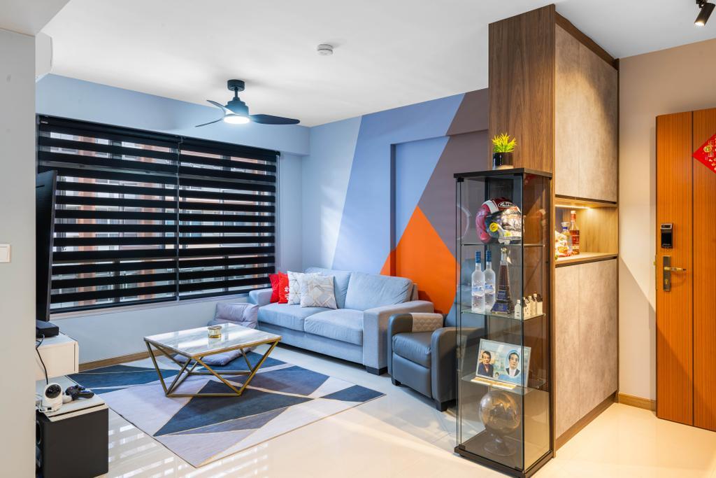 Contemporary, HDB, Living Room, Buangkok Crescent, Interior Designer, Mr Designer Studio