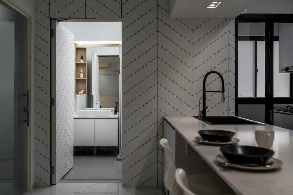 Minimalistic, HDB, Kitchen, Bidadari Park Drive, Interior Designer, Zenith Arc, Contemporary