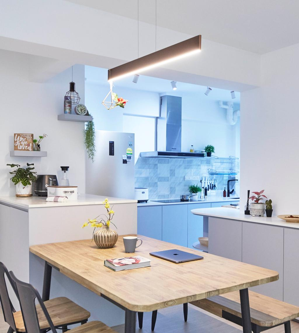 Contemporary, HDB, Dining Room, Telok Blangah Street 31, Interior Designer, i-Chapter, Scandinavian
