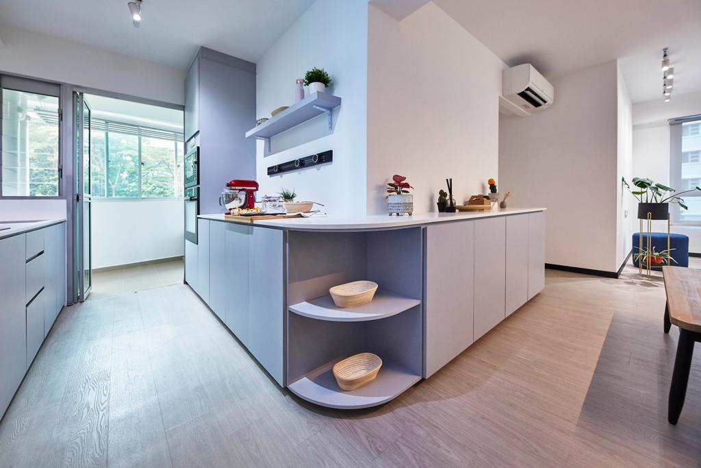 Contemporary, HDB, Kitchen, Telok Blangah Street 31, Interior Designer, i-Chapter, Scandinavian