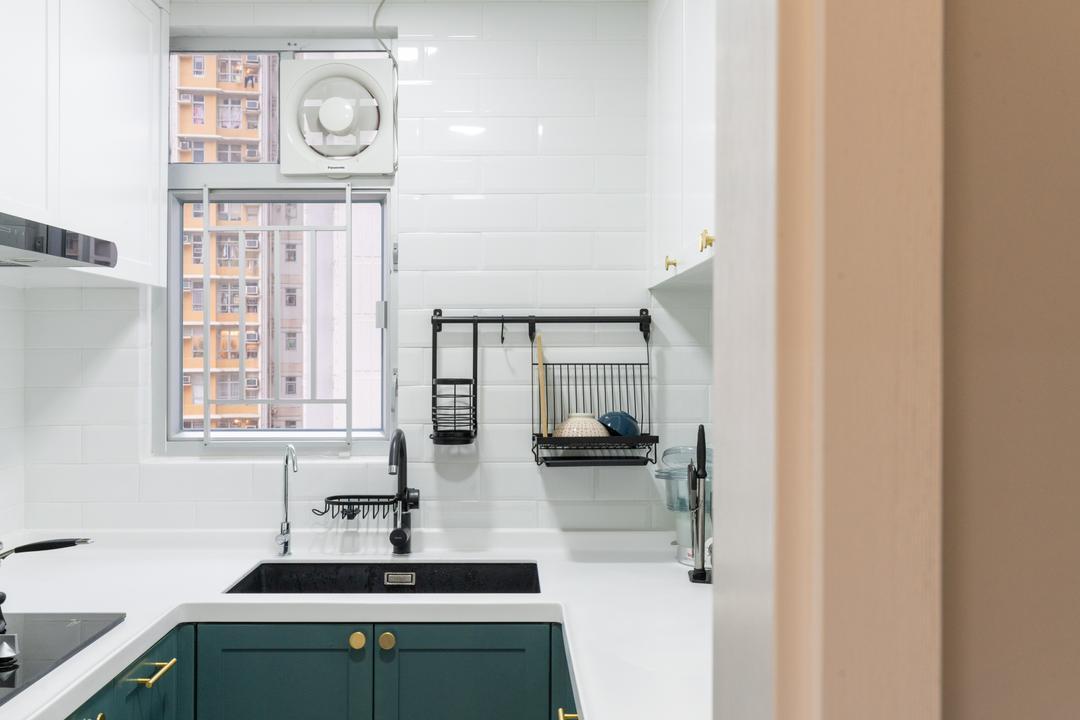 愉翠苑, X Ka Design, 北歐, 簡約, 廚房, 私家樓