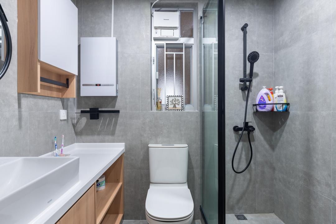 愉翠苑, X Ka Design, 北歐, 簡約, 浴室, 私家樓