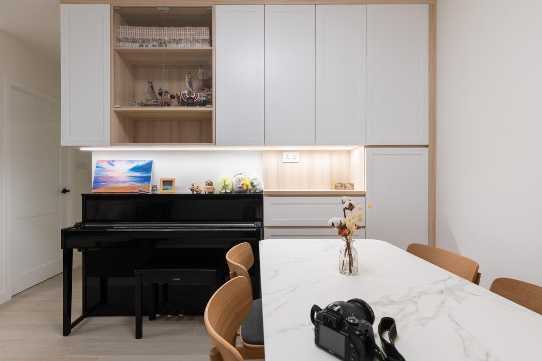 愉翠苑, X Ka Design, 北歐, 簡約, 飯廳, 私家樓