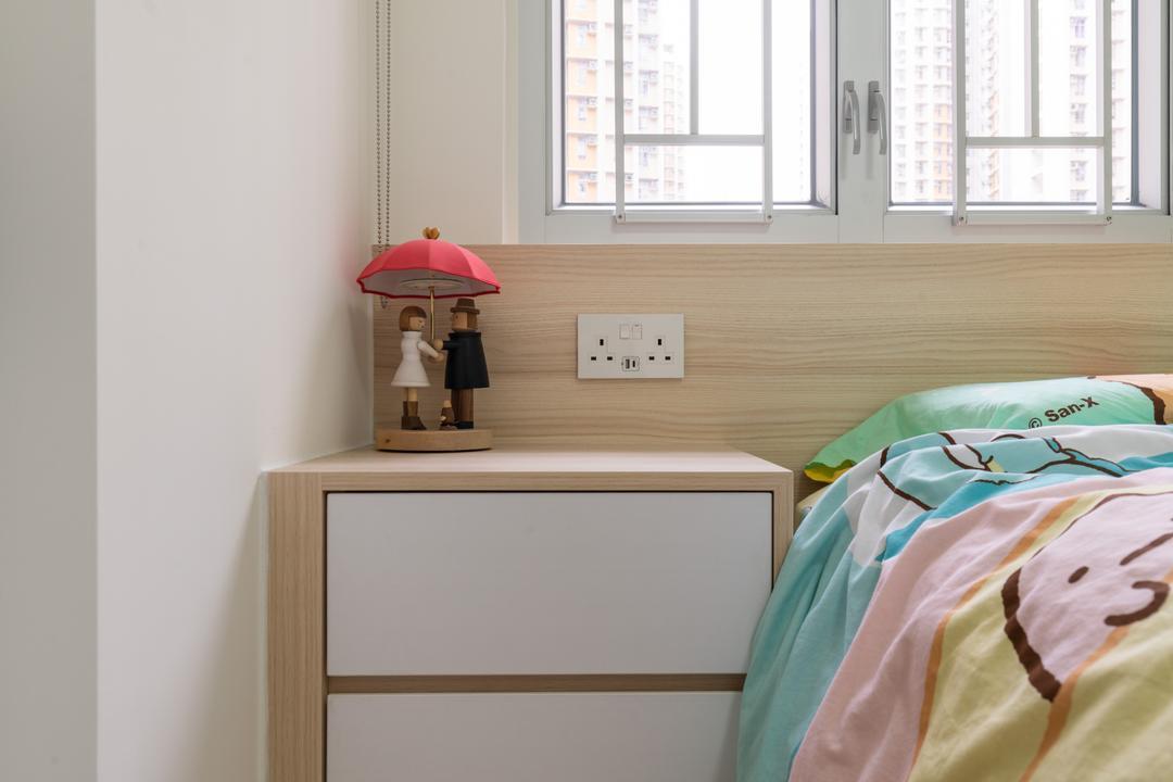 愉翠苑, X Ka Design, 北歐, 簡約, 睡房, 私家樓