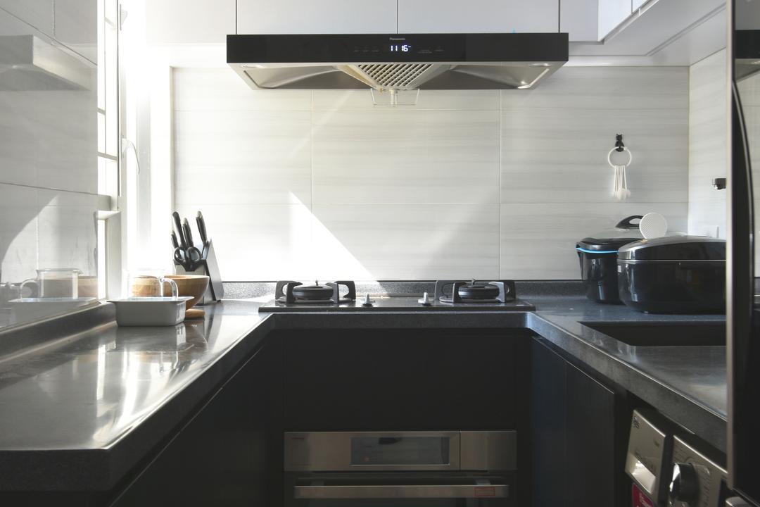 銀蔚苑, X Ka Design, 摩登, 廚房, 私家樓