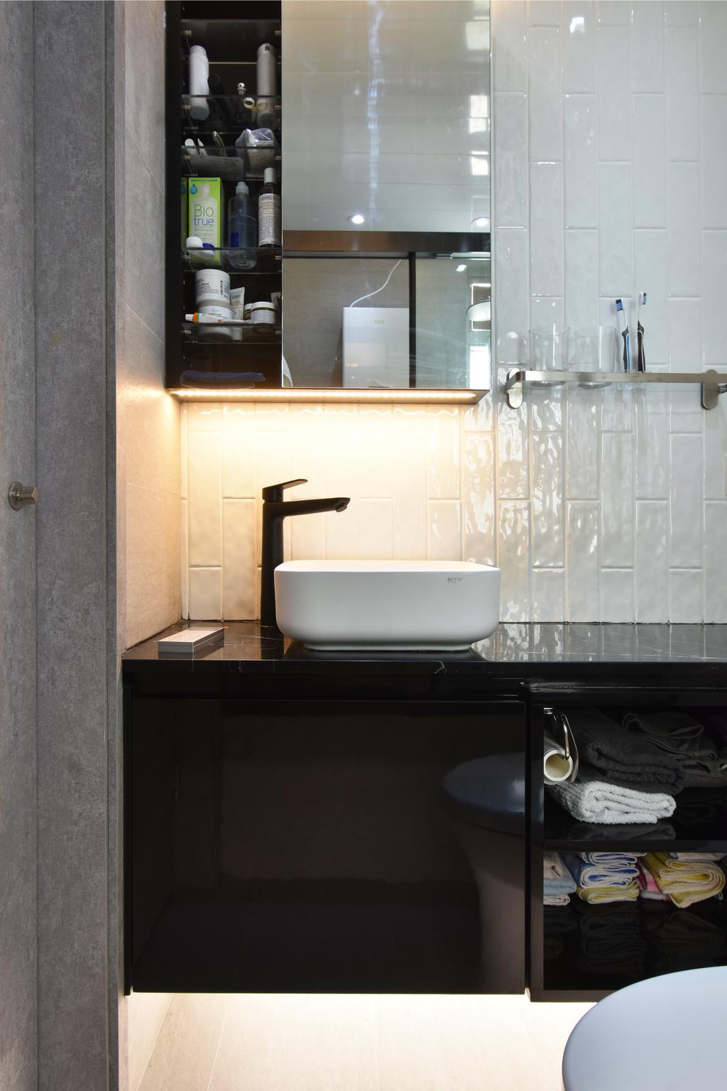 摩登, 私家樓, 浴室, 銀蔚苑, 室內設計師, X Ka Design