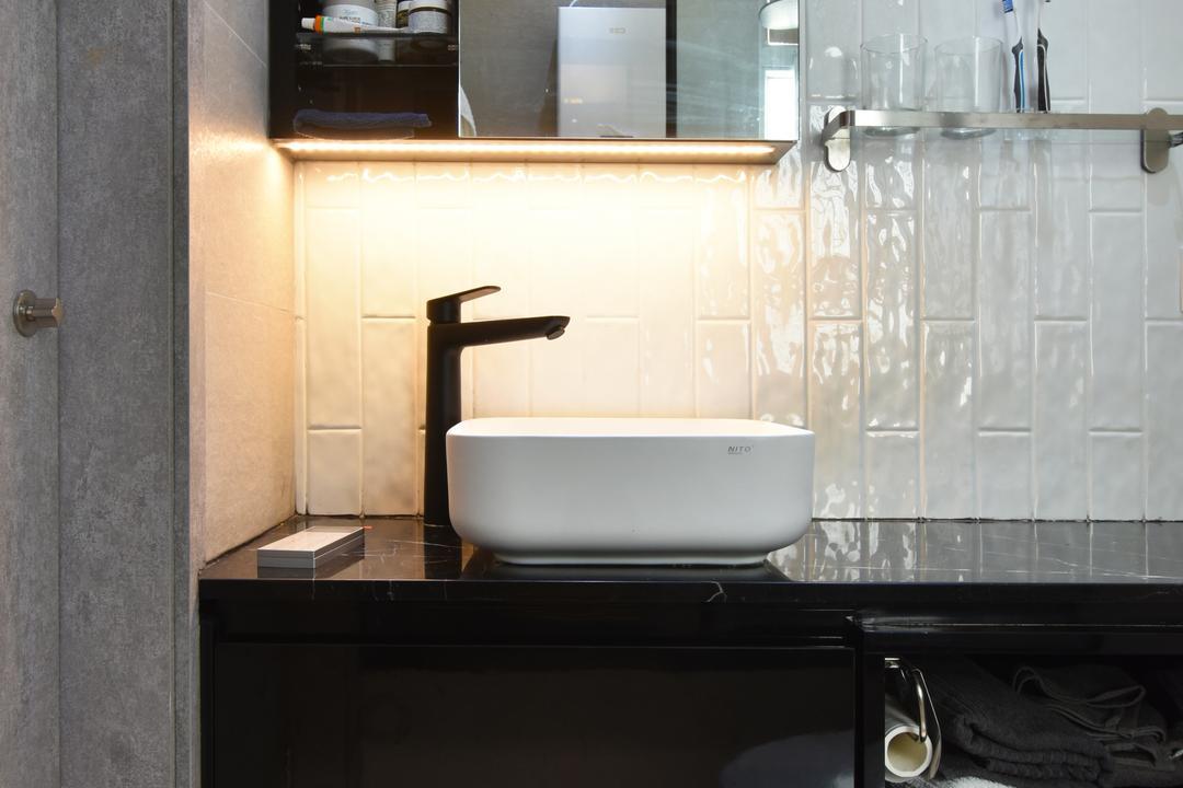 銀蔚苑, X Ka Design, 摩登, 浴室, 私家樓
