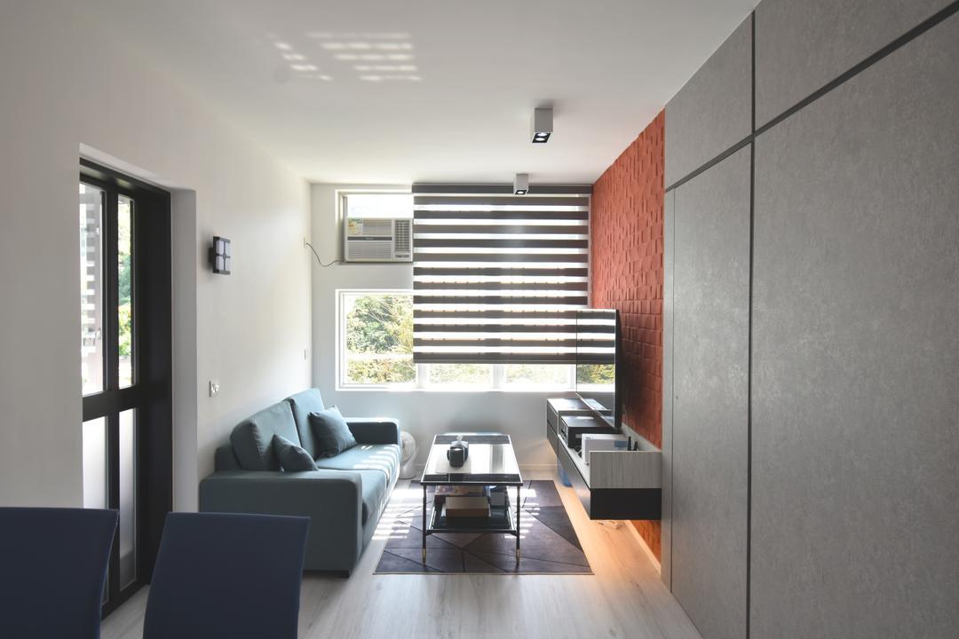 銀蔚苑, X Ka Design, 摩登, 客廳, 私家樓