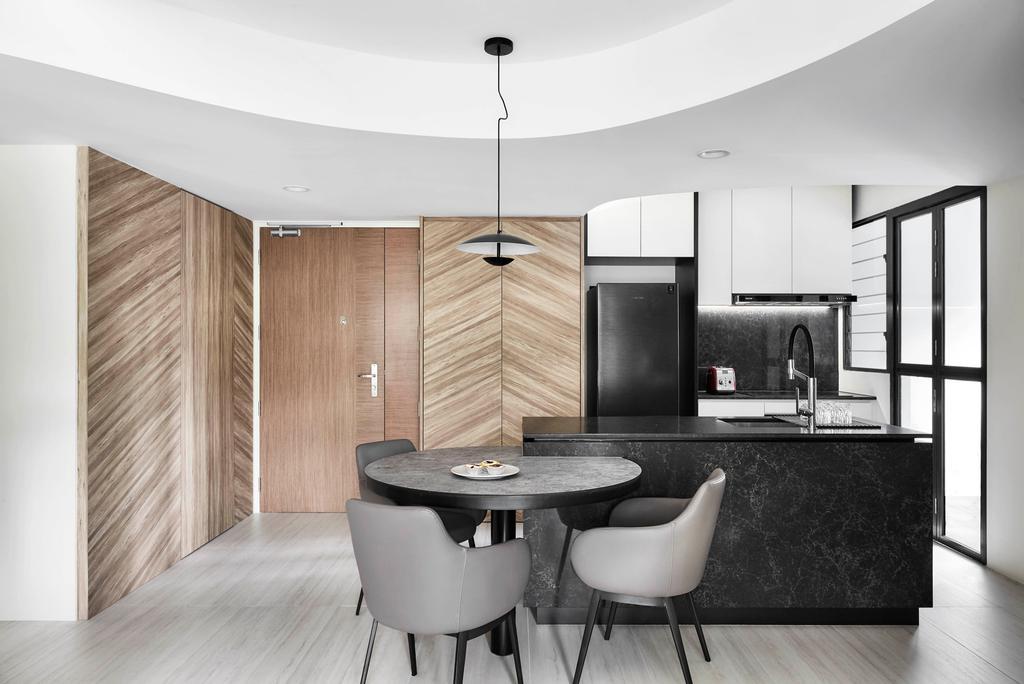 Contemporary, HDB, Kitchen, Bidadari Park Drive, Interior Designer, Notion of W