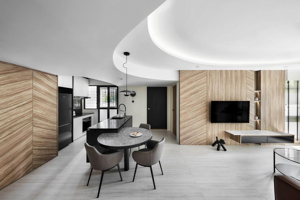 Contemporary, HDB, Living Room, Bidadari Park Drive, Interior Designer, Notion of W