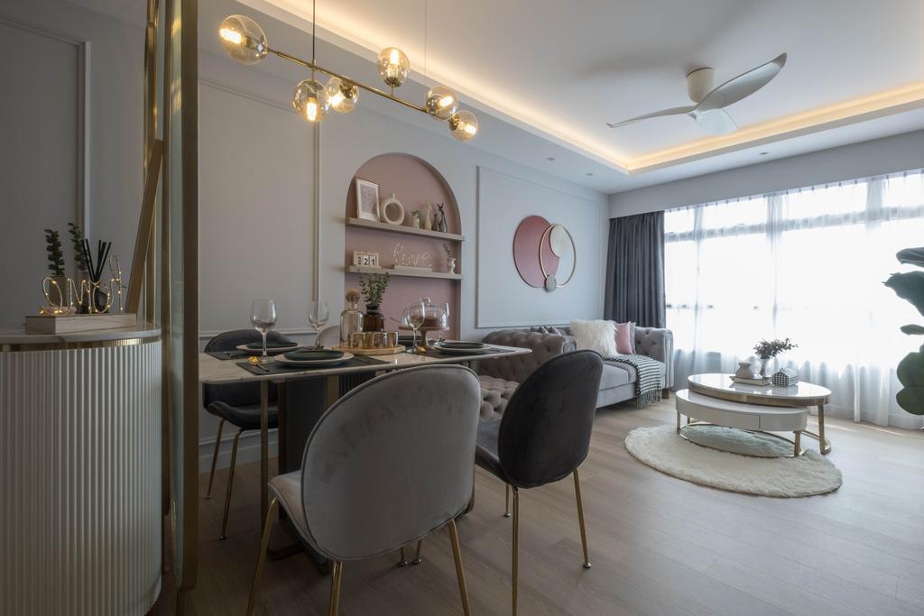 Contemporary, HDB, Dining Room, Teban Gardens, Interior Designer, United Team Lifestyle