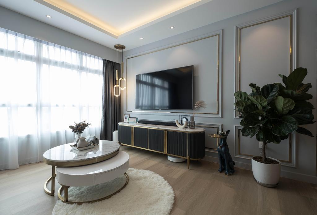 Contemporary, HDB, Living Room, Teban Gardens, Interior Designer, United Team Lifestyle
