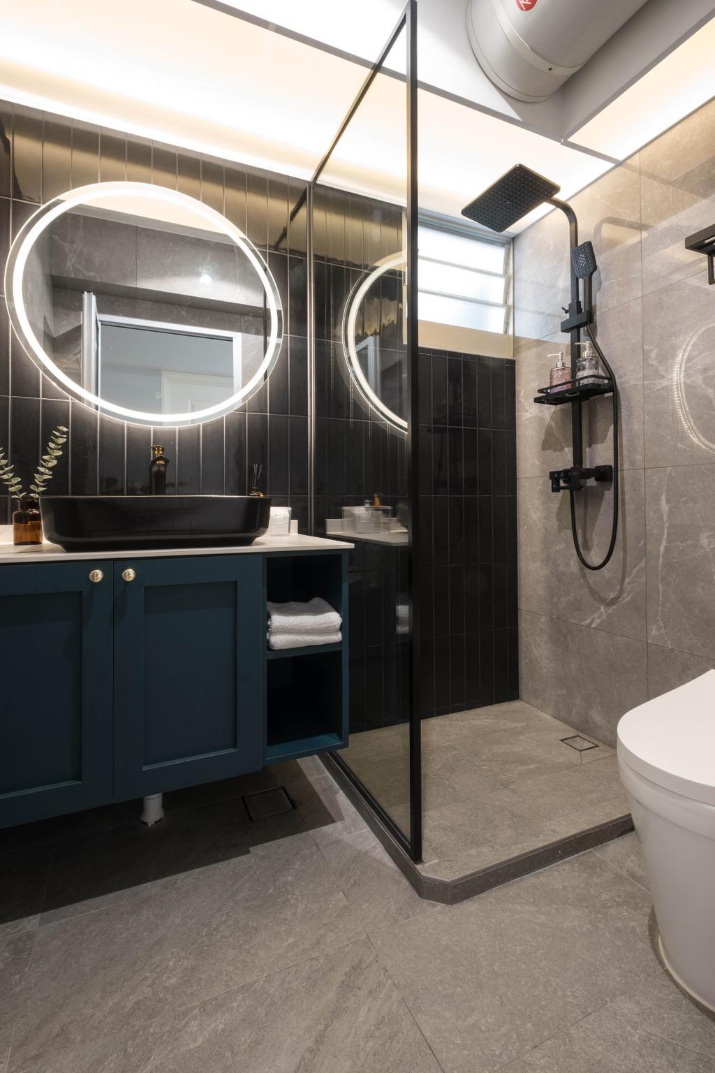 Contemporary, HDB, Bathroom, Teban Gardens, Interior Designer, United Team Lifestyle