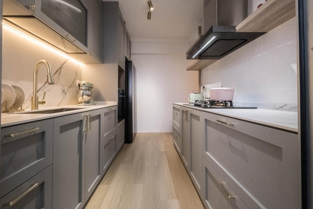 Contemporary, HDB, Kitchen, Teban Gardens, Interior Designer, United Team Lifestyle