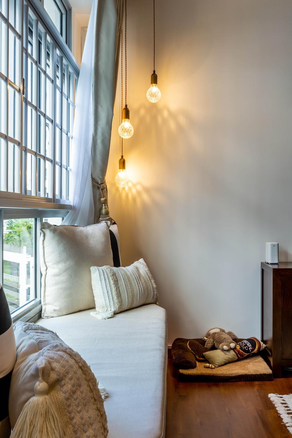 Contemporary, HDB, Living Room, Tampines North Drive 1, Interior Designer, Renex Interior